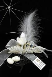 ŞENNUR - Kuğulu Peçetelik Nikah Şekeri 30439