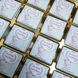 ŞENNUR - Ayıcık İsim Baskılı Bebek Çikolatası 2540