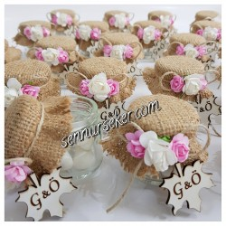 ŞENNUR - Çınar yapraklı bebek, nişan, nikah hediyeliği 2145