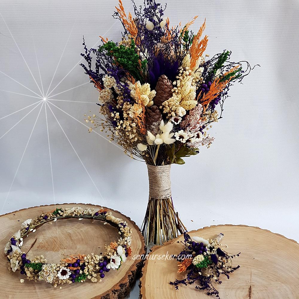 ŞENNUR - Doğal Çiçekli Gelin Buketi 2969