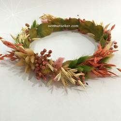 ŞENNUR - Doğal Kuru Çiçek Gelin Taçı 2726