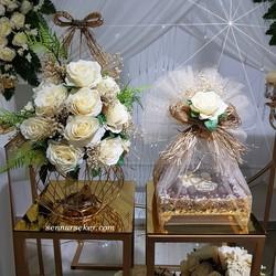 ŞENNUR - Gold Nişan Çiçek ve Çikolata Takımı 2748