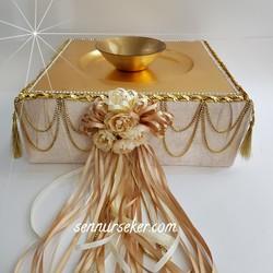 ŞENNUR - Gold Taşlı Kına Tabağı 2613