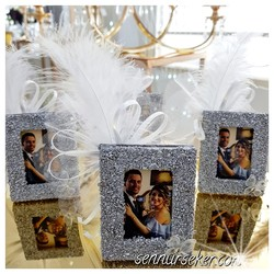 ŞENNUR - Gümüş Ahşap Çerçeve Nişan Nikah Hediyeliği 2708