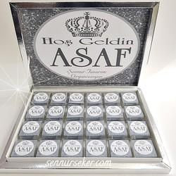 ŞENNUR - Gümüş Taçlı Bebek Çikolatası 2595