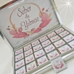 ŞENNUR - İsim Baskılı Kız İsteme Nişan Nikah Çikolatası 2707
