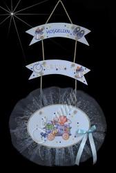 ŞENNUR - İsimli Ahşap Bebek Kapı Süsü 100