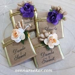 ŞENNUR - İsme Özel Tasarım Nişan Nikah Bebek Çikolatası 2774
