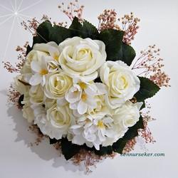 ŞENNUR - Krem Cipsolu Gelin Çiçeği 2725