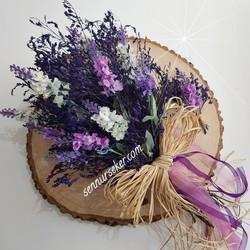 ŞENNUR - Kuru Çiçekli Lavanta Gelin Buketi 2597