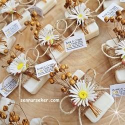 ŞENNUR - Kuru Çiçekli Tasarım Sabun Nişan,Söz Hediyeliği 2624