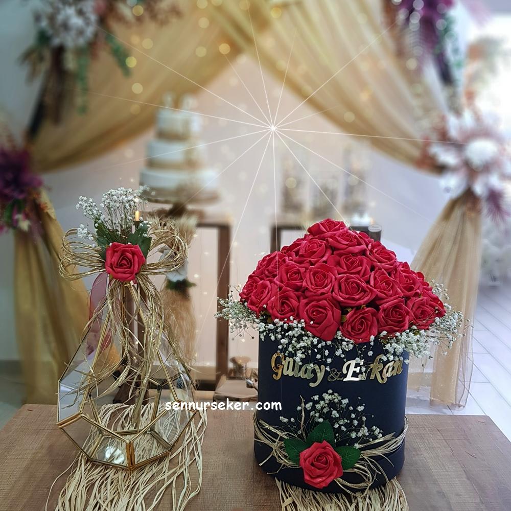 Kutuda Kırmızı Gül İsteme Çiçeği 3018 - Thumbnail