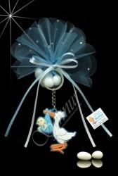 ŞENNUR - Leylekli Anahtarlık Bebek Şekeri 33117