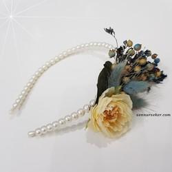 ŞENNUR - Mavi Kuru Çiçekli Lohusa Tacı 2751