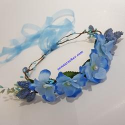 ŞENNUR - Mavi Ortancalı Gelin Tacı 2728