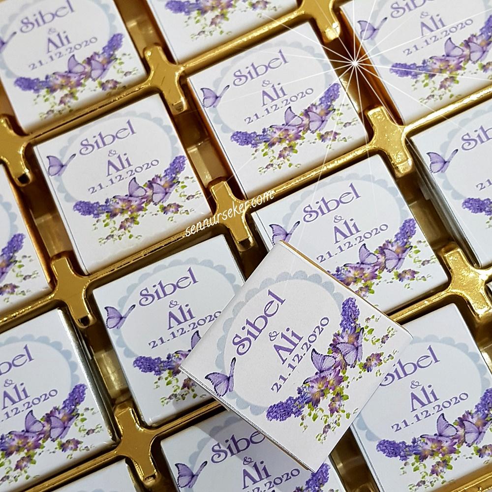ŞENNUR - Mor İsimli Çikolata 3001