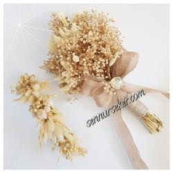 ŞENNUR - Naturel Gelin Çiçeği ve Tacı 2729