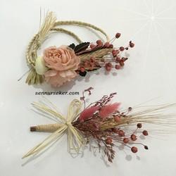 ŞENNUR - Pudra Şakayıklı Gelin Tacı ve Yaka Çiçeği