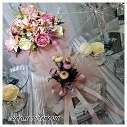 ŞENNUR - Pudra Söz Nişan Çiçek ve Çikolata Takımı 2766