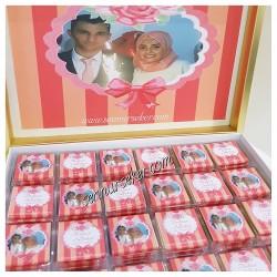 ŞENNUR - Resim Baskılı Nikah, Nişan Çikolatası 2153
