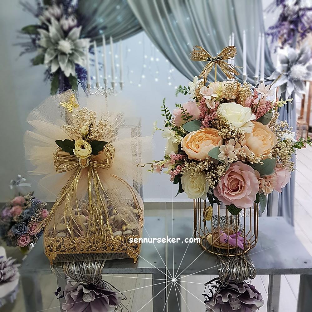 ŞENNUR - Soft Söz, Nişan Çikolata ve Çiçek Seti 3016