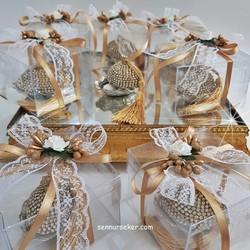 ŞENNUR - Tasarım Taşlı Lokumluk Nişan Nikah Hediyeliği 2605